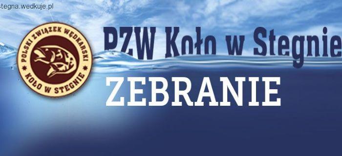 Zebranie Cz�onk�w Ko�a PZW nr 29 w Stegnie – 10 stycznia 2016 r. (niedziela) o godz. 16:00
