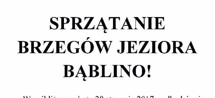 SPRZ¡TANIE BRZEGÓW JEZIORA B¡BLINO!