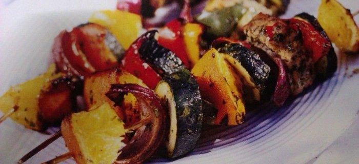 Szasz³yki rybne z warzywami (miêtus)