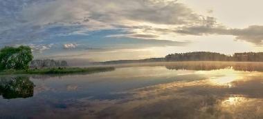 Jezioro Glinki ze spiningiem