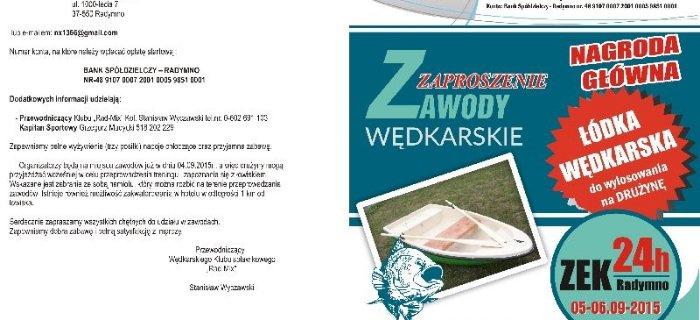 Zawody w�dkarskie 24h ZEK w Radymnie