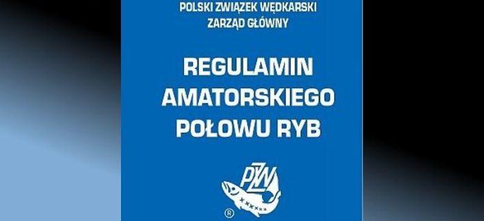 Zmiany w Regulaminie Amatorskiego Po�owu Ryb - od 1.01.2016r
