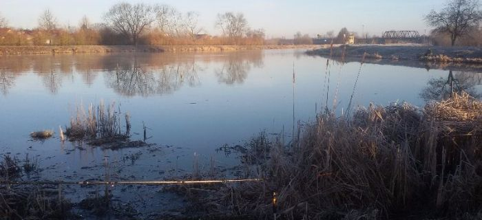 Uj�cie rzeki Beniamin�wki i rozlewisko przy stra�y