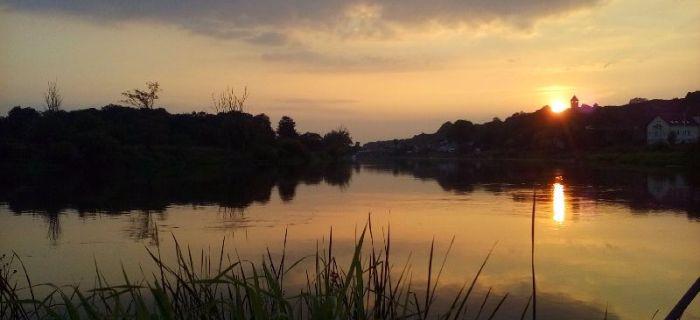 Rzeka Warta, prawy brzeg, w miejscowo¶ciach Santok i Czechów
