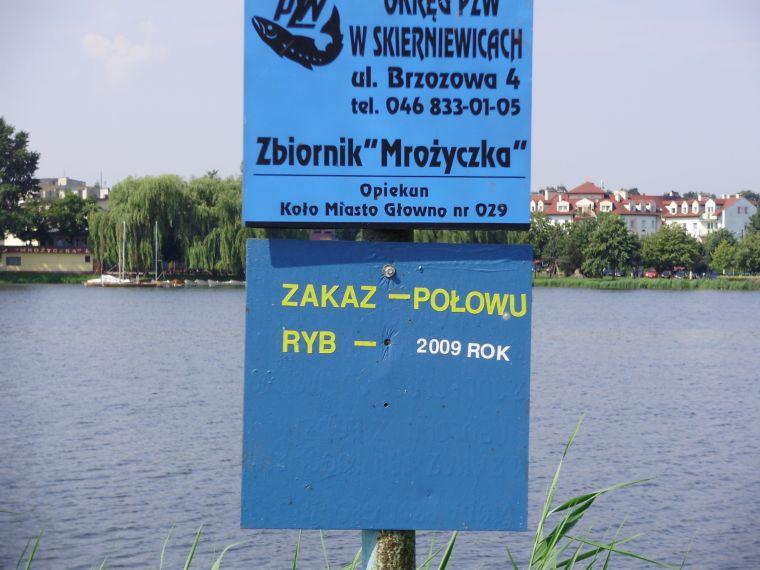 Zalew na rzece Mroga Mro¿yczka - Pi³a