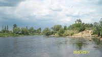 Rzeka Warta za Tam� poni�ej zbiornika zaporowego Jeziorsko