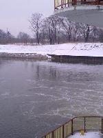 Rzeka Odra-nowy jaz Ko�le