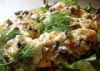 Leszcz zapiekany z grzybami i serem...