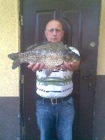 Rekordowa ryba - wojskowe jeziorko ko³o Wêgorzewa