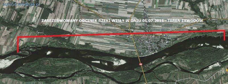 Rezerwacja odcinka rzeki Wis�y Chmielewo-Drwa�y w dniu 05.07.2015